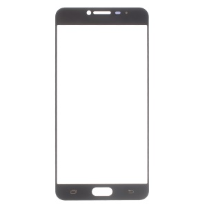 Replacement Front Glass Lens for Samsung Galaxy C7 - Black