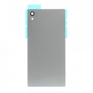 Battery Door Cover with Adhesive Sticker for Sony Xperia Z5 - Silver
