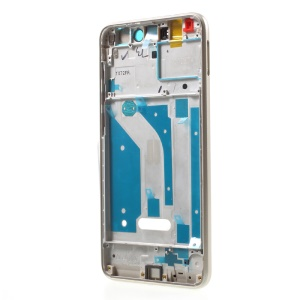 OEM Middle Plate Frame Repair Part for Huawei P8 Lite (2017) / Honor 8 Lite with Earpiece Mesh - Gold Color