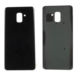 Back Battery Housing Cover Assembly with Adhesive Sticker for Samsung Galaxy A8 Plus (2018) - Black
