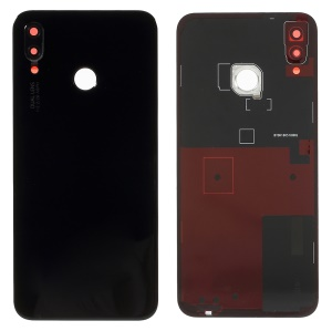 OEM for Huawei P20 Lite / Nova 3e Battery Housing Part with Adhesive Sticker + Camera Lens Ring Cover - Black