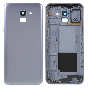 OEM Back Housing Door Cover + Middle Plate Frame Repair Part for Samsung Galaxy J6 (2018) J600 - Grey