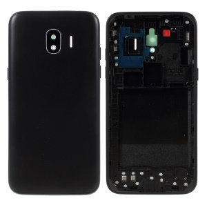 OEM Back Housing Door Cover + Middle Plate Frame Repair Part for Samsung Galaxy J2 Pro 2018 J250 - Black
