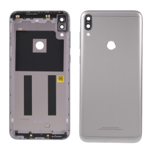OEM Battery Housing Door Cover with Camera Glass Lens Case for Asus Zenfone Max Pro (M1) ZB601KL - Grey
