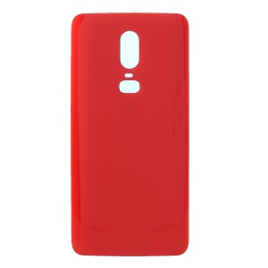 Purchased Battery Housing Door Repair Part with Adhesive Sticker for  OnePlus 6 - Red