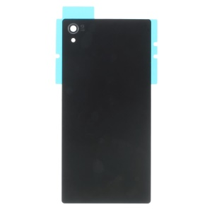 For Sony Xperia Z5 Premium Battery Door Cover with Adhesive Sticker - Black
