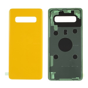 For Samsung Galaxy S10 G973 Battery Housing with Adhesive Sticker Replacement - Yellow