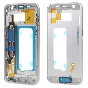 OEM Middle Housing Frame with Small Parts for Samsung Galaxy S7 G930F - Silver Color