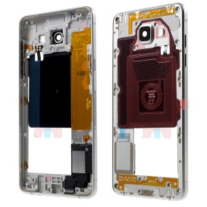 OEM Material Assembly Middle Housing Frame with Small Parts for Samsung Galaxy A5 SM-A510F - Silver