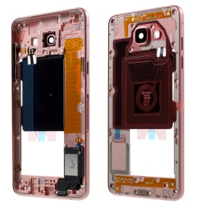 For Samsung A5 SM-A510F OEM Material Assembly Middle Housing Frame with Small Parts - Rose Gold Color