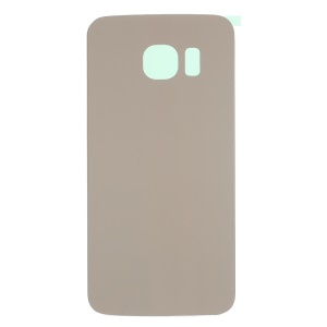 OEM Battery Housing Cover with Adhesive Sticker for Samsung Galaxy S6 Edge G925 - Gold