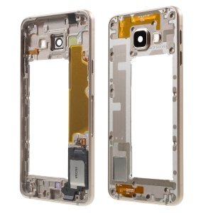 OEM Middle Housing Frame for Samsung Galaxy A3 SM-A310F (2016) with Small Parts - Gold