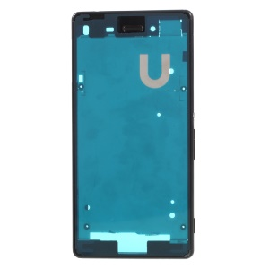 Middle Plate Frame with Small Parts for Sony Xperia M4 Aqua Dual (OEM Disassembly) - Black