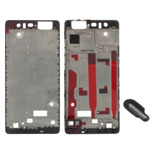 OEM Front Housing Frame + Earpiece Mesh Repair Part for Huawei P9 - Black