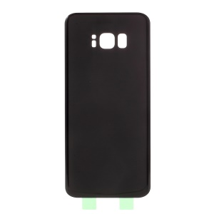 OEM Battery Housing Back Cover with Adhesive Sticker for Samsung Galaxy S8+ SM-G955 - Black