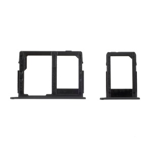 OEM SIM1 + SIM2/Micro SD Card Tray Holder Parts for Samsung Galaxy J3 (2017) - Black