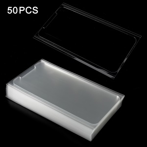 50Pcs/Set 0.125mm OCA Optical Clear Adhesive Sticker for iPhone X LCD Digitizer, Thickness: 0.25mm