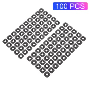 100PCS/Pack OEM Rear Back Glass Camera Lens Cover Part Replacement for Samsung Galaxy S6 G920 - Black