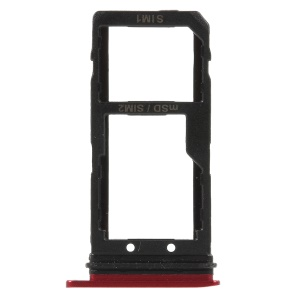 OEM SIM/Micro SD Card Tray Holder Part for HTC U11 - Red