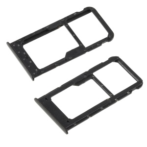 OEM Dual SIM Micro SD Card Tray Slot Part for Huawei  P Smart/Enjoy 7S - Black