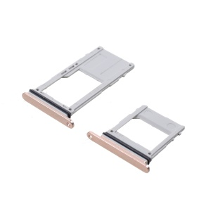2PCS OEM Dual SIM MicroSD Card Tray Holder for Samsung Galaxy A8 (2018) - Rose Gold