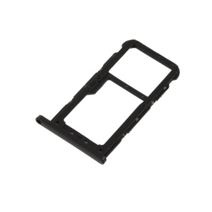 OEM Dual SIM Card Tray Slot Holder Part for Huawei P20 Lite - Black