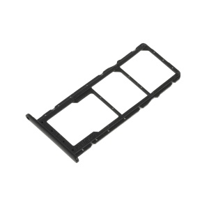OEM Dual SIM Card + Micro SD Card Tray Holders Part for Huawei Honor 8X - Black
