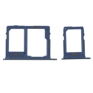 2PCS OEM Dual SIM MicroSD Card Tray Holder Replacement for Samsung Galaxy A6 (2018) - Blue