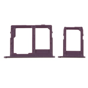 2PCS OEM Dual SIM MicroSD Card Tray Holder Repair Part for Samsung Galaxy J6 (2018) - Purple