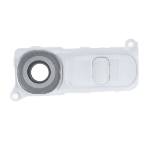 OEM Camera Lens Ring Cover with Power Switch Button for LG G4 H815 - White