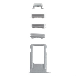 OEM for iPhone 6s Side Button Set (Mute / Power / Volume Buttons + Sim Card Tray) - Silver Color