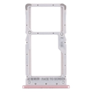 OEM Dual SIM Card Tray Holder Part Replacement for Xiaomi Redmi Note 6 Pro - Pink