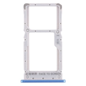 OEM Dual SIM Card Tray Holder Part Replacement for Xiaomi Redmi Note 6 Pro - Blue