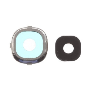 OEM Rear Camera Lens Ring Cover for Samsung Galaxy S4 I9505 - Silver Color