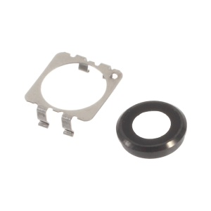 OEM Rear Camera Lens Ring + Bracket Replacement for iPhone 6s Plus - Black