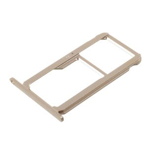 SIM1 + SIM2/MicroSD Card Tray Holder OEM Replacement for Huawei Honor 8 - Gold Color