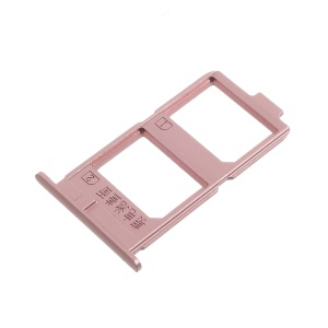 For Vivo X7 Plus OEM MicroSD Dual SIM Card Tray Holder Slot - Rose Gold Color