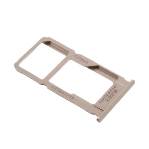 OEM SIM Card + MicroSD Card Tray Holder Slot Part for Oppo R9 Plus - Gold Color