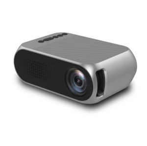 YG320 Mini Portable 1080P HD LED Projector Multimedia Home Theater Projector - Silver Color / EU Plug