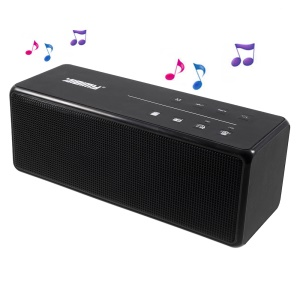AIBIMY MY580BT Bluetooth Speaker with LED Flash Lights / FM / Aux-in / TF Card Function for iPhone Samusng Sony - Black