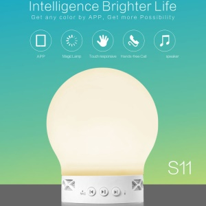 SMART TIGER S11 Magic LED Light Smart Lamp Bluetooth Speaker APP Control Multi-color Changing with Mic