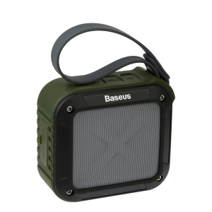 BASEUS Gaiety Series Outdoor Sport Bluetooth Speaker with Mic Support TF Card FM Radio AUX-in - Army Green