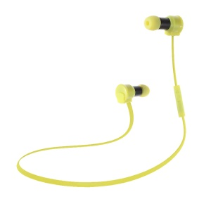GBLUE S60A Wireless Bluetooth In-ear Earphone Sports Headset with Mic - Yellow