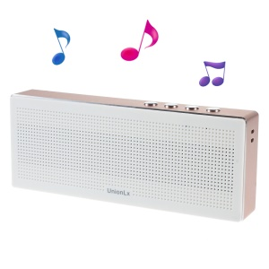 UNIONLX Bluetooth Speaker Support FM/TF Card/Aux-in for iPhone Samsung Sony - Rose Gold