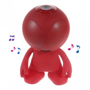 Alien Shape Portable Bluetooth Speaker Support Line-in/TF Card/FM for iPhone - Red