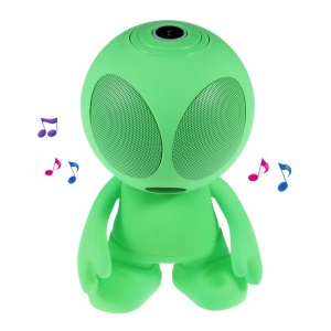 UFO Shape Portable Bluetooth Speaker Support Line-in/TF Card/FM for iPhone - Green