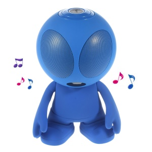 Alien Shape Portable Bluetooth Speaker Support Line-in/TF Card/FM for iPhone - Blue