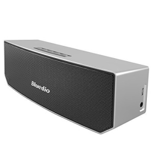 BLUEDIO BS-3 Stereo Wireless Bluetooth Speaker with Microphone - Silver