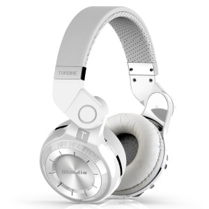 BLUEDIO T2+ Wireless Bluetooth 4.1 Mic Stereo Headphone Headset Over-ear - White