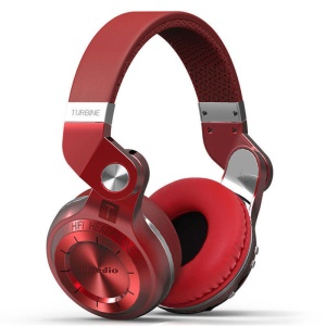 BLUEDIO T2+ Over-ear Wireless Bluetooth 4.1 Stereo Headphone Headset with Mic - Red